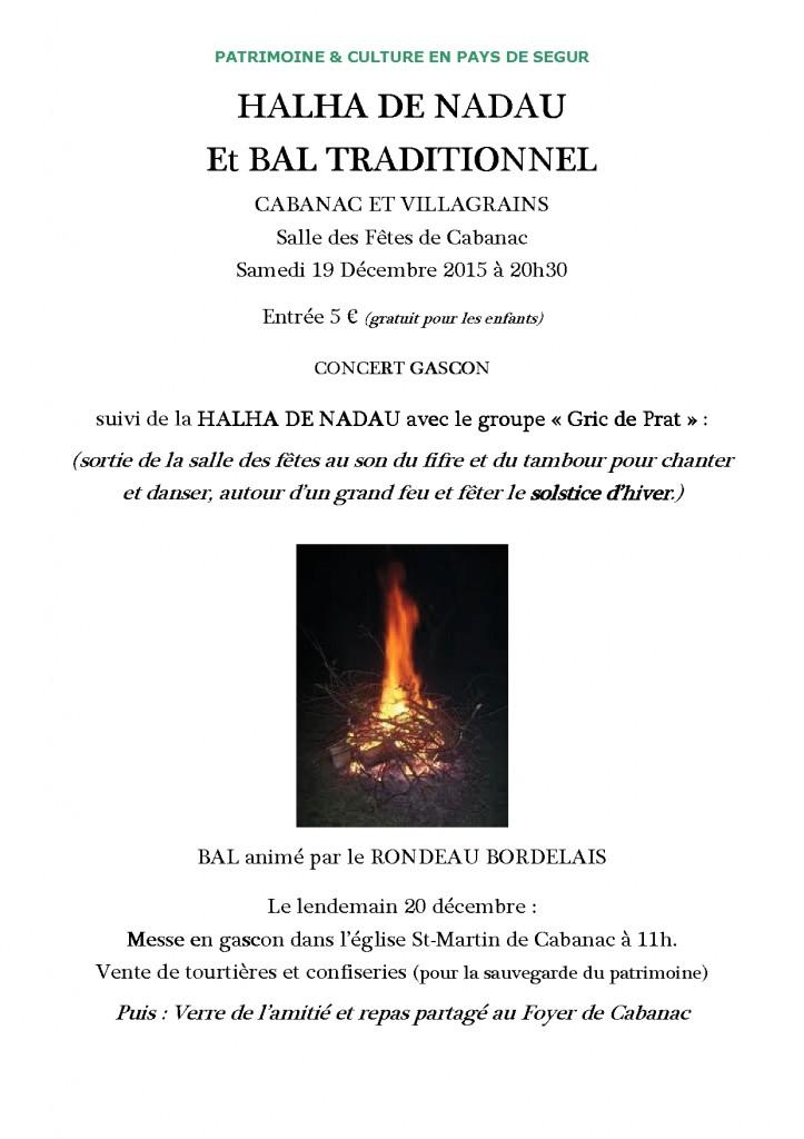 Affiche HALHA DE NADAU m