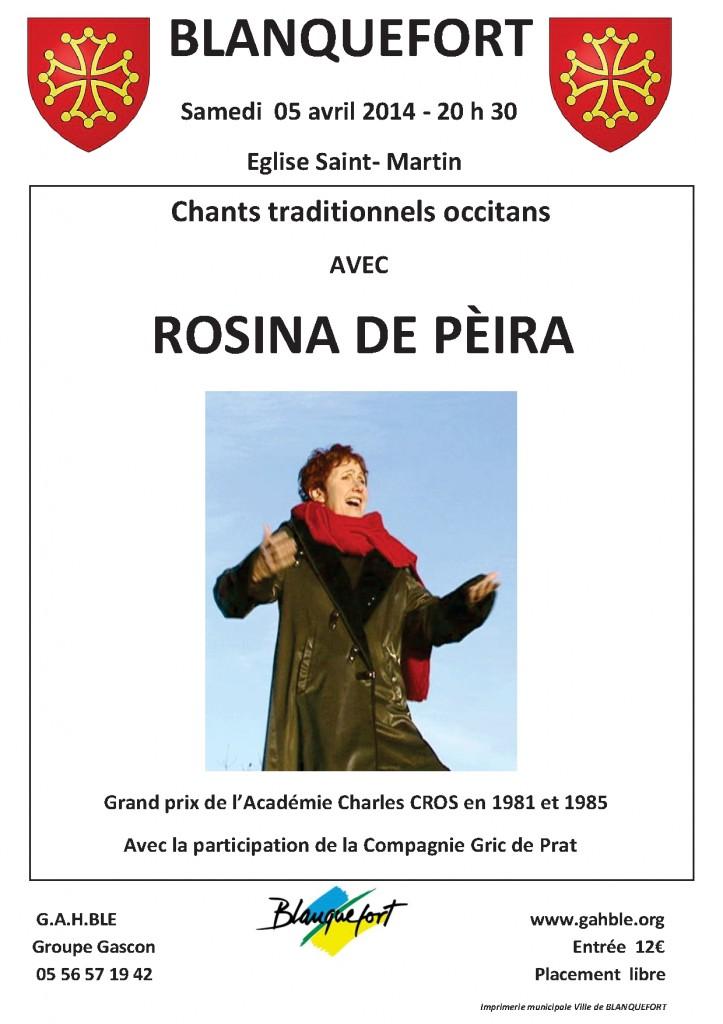 Affiche concert Rosine - Copie