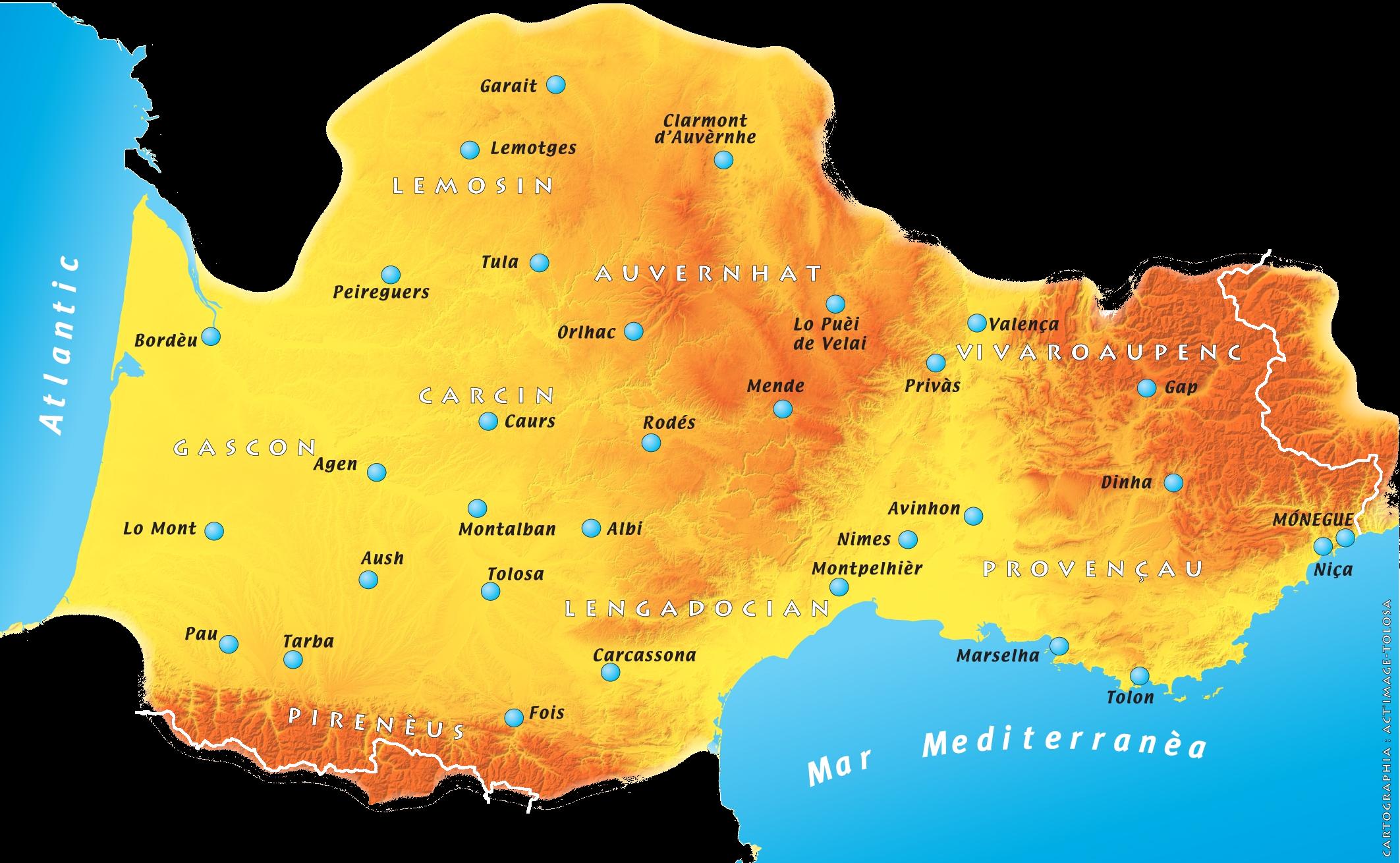 carte de france occitanie