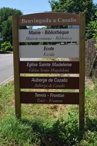 Signalétique Bilingue Cazalis Pompéjac