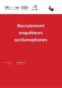 Recrutement Enqueteurs Occitanophones Ostau Occitan